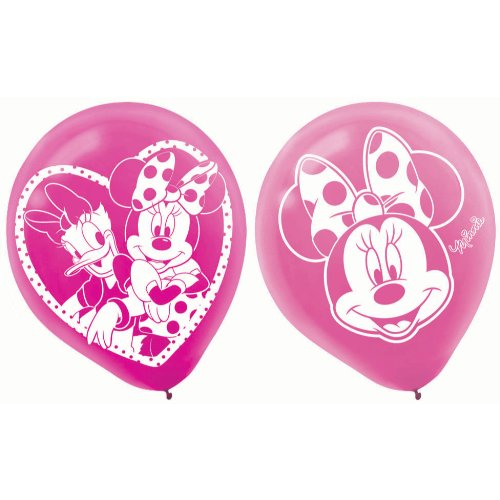 Minnie Mouse Bowtique 12 in Balloons, 6 count, Party Supplies - 1