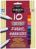Sargent Art 22-1568 10-Count Bright Fabric Markers