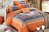Cliab Moroccan Bedding Ethnic Bedding Full/Queen 100% Brushed Cotton Duvet Cover set