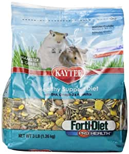 Kaytee Forti Diet Pro Health Food for Hamster/Gerbil, 3-Pound