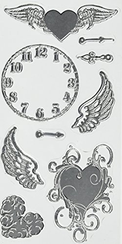Hampton Art Clock Clear Stamp Rubber Stamp