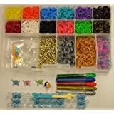 Loom Kit Rubber Band Refills Set Organizer Storage Case Plus Glow In The Dark Rubber Bands Plus 3d C