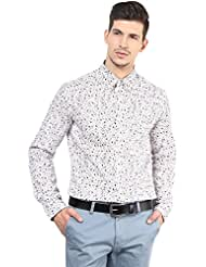 Yellow Submarine Men's Cotton Maroon Multi Paisly Print Cotton Shirt