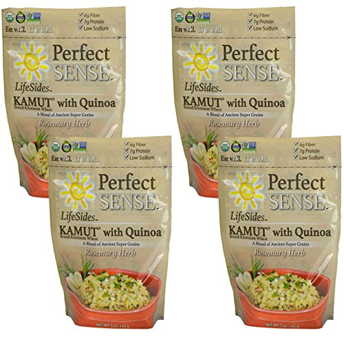 Perfect Sense 100% Organic Gluten Free USDA Certified Lifesides Kamut with Quinoa Rosemary Herb Certified Kosher 5 oz 4 pack (Cheap Canned Goods compare prices)