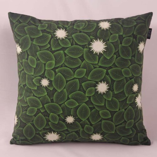 Fablegent Elegant Decorative Throw Pillow / Cushion Cover - Green Leaves - Fs207 front-580452