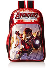 Iron Man Polyester 18 Cms Black And Red Children's Backpack (MBE-WDP0407)