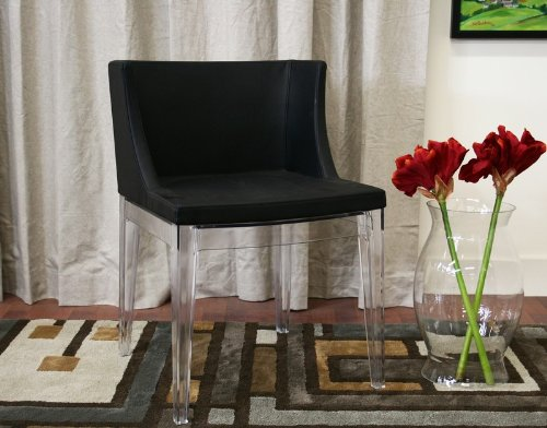 fiore black accent chair