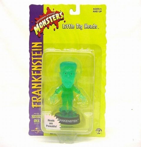 Buy Low Price Sideshow Little Big Heads Universal Studios Transluscent Green Frankenstein Figure (B001FS0VXC)