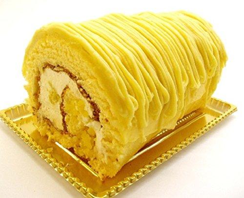ロリアン洋菓子店 黄金のモンブランロール 直径約10cm×長さ14cm 1本