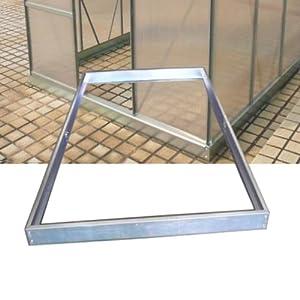 Zelsius® - Stahl Fundament Rahmen, passend zum Aluminium Gewächshaus ASIN: B001TJ3TL8 und B00KHSY5Q0