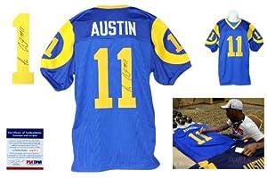 Tavon Austin Signed Blue Jersey - PSA DNA - St. Louis Rams Autograph