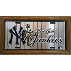 2 , Yankee Clocks, on,  ,NEW YORK YANKEES, on, PIN STRIPES, , Metal Sign, with a,...