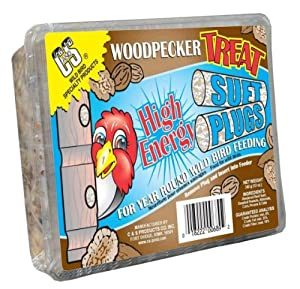 C & S Products Woodpecker Treat Suet Plug, 12-Piece
