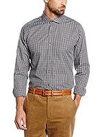 Cortefiel Camisa Hombre Slim P (Gris Oscuro)