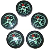 25 Mm Liquid Filled Survival Button Compasses - Set Of 5