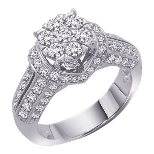 sterling silver 1 1 2 ct cubic zirconia engagement ring
