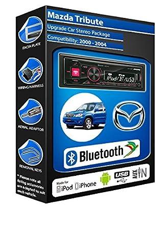 Mazda Tribute autoradio Alpine UTE 72BT-kit mains libres Bluetooth pour autoradio stéréo