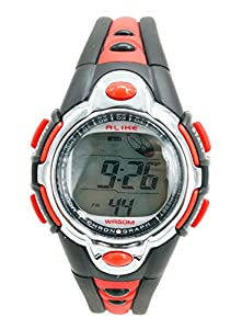 Aivtalk Kid Girls Watches Waterproof Chronograph Digital Sports Watch For Child With Time,Date,Week,Count Digit,Chime,El-Light - Red