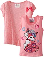 Beautees Little Girls' Two-Piece Fox Shirt