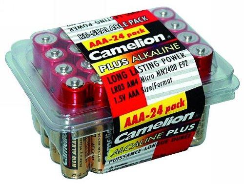 Parlat micro-pile aAA-cAMELION plus alkaline lot de 24