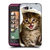 Head Case Designs Kitten in Warm Towel Cats Hard Back Case Cover for HTC Rhyme