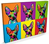 Chihuahua Dog Pop Art Canvas Print, 22x34 inch (A1) - 161