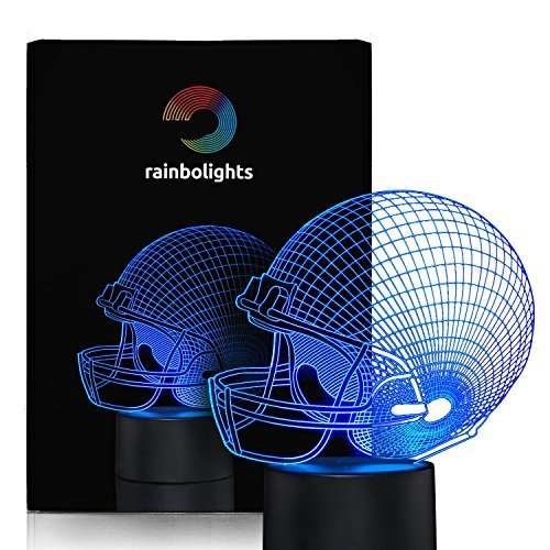 Football Helmet Night Light 7 Color LED Does Not Get Hot By rainbolights a Great Gift Idea for any age (Restaurants In Seattle compare prices)