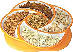 Oliveware Plastic Dolphin Snack And Dry Fruit Candy, 1 Piece, Orange
