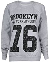 Fast Fashion - Sweatshirt Geek Brooklyn Boy Aigle Impression - Femme (EUR (36-38), Brooklyn - Gris)