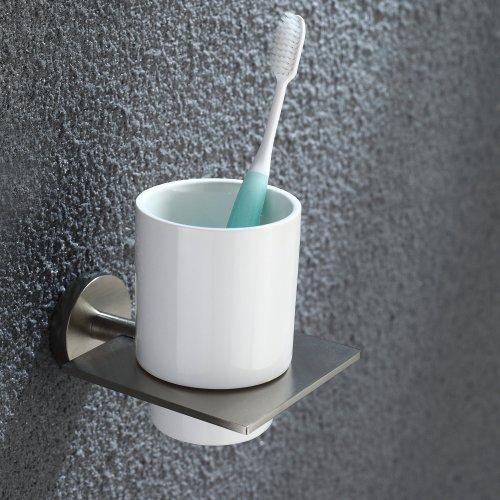 Kraus Kea 12204bn Imperium Bathroom Accessories Wall Mounted Ceramic Tumbler Holder Brushed
