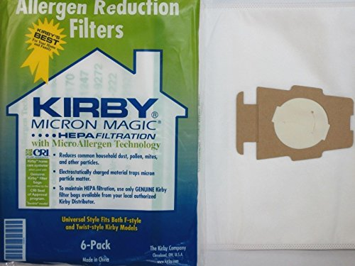 6 CLOTH Sentria Hepa Micron Magic Ultimate G Kirby Vacuum Bags SEALED PRODUCT!! (Type Z Riccar compare prices)