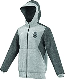 Adidas Mens Real Madrid FC Training Hooded Sweatshirt Medium Grey Heather AA6880 Size 2X-Large