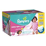 Pampers Easy Ups Girls Size 3T4T Value Pack, 90 Count (Packaging May Vary)