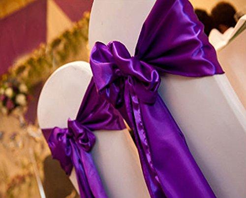 Bleu clair 10l275cm * * * * * * * * 12cm noeud papillon Housse de chaise écharpe Plus Large Plus nœuds de mariage Parti