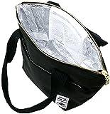 (ファイン プロダクト) FINE PRODUCT トートバッグ 杢調 ファスナー付き 保冷 保温 ランチバッグ 4color Free ブラック