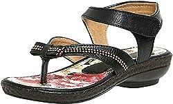 Craze Shop Girlss Black Artificial Leather Sandals (10260-29, 29 EU)