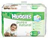 Huggies Pure & Natural Diapers, Size 4, 60 Count (Pack of 2) (Packaging May Vary)