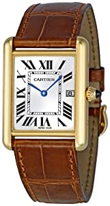 Cartier Men's W1529756 Tank Louis 18kt Yellow Gold Watch