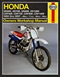 Honda XR 50 70 80 100 Repair Manual Haynes Service Manual Workshop Manual 1985-2003