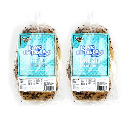 ThinSlim Foods Love-The-Taste 50 Calorie, 1g Net Carb Low Carb Bread, 2pack (Everything) (Thin Slim Bread compare prices)