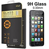 iPhone 5S Screen Protector,For iPhone 5S/5/5c,by Ailun,Premium Tempered Glass,9H Hardness,2.5D Curved Edge,Bubble Free,Anti-Scratch,Fingerprint&Oil Stain Coating,Case Friendly-Siania Retail Package