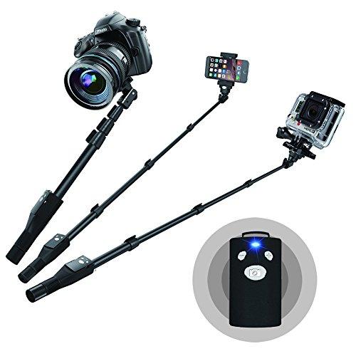 selfie stick pro 2 in 1 selfie stick heavy duty pole monopod for gopro hero 1 2 3 3 4 camera. Black Bedroom Furniture Sets. Home Design Ideas