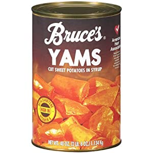 Amazon.com : Bruce's Yams, Sweet Potatoes in Syrup, 40 oz can (4 pack