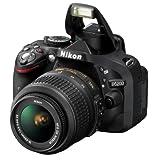 Nikon D5200 SLR-Digitalkamera (24,1 Megapixel, 7,6 cm (3 Zoll) TFT-Display, Full HD, HDMI) Kit inkl. AF-S DX 18-55 mm VR Objektiv schwarz -