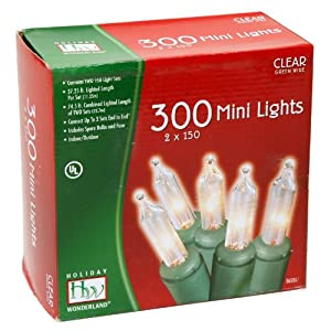 Holiday Wonderland 300-Count Clear Christmas Mini Light Set