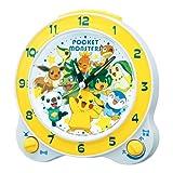 SEIKO CLOCK (セイコークロック) ポケモンアナログクォーツ目覚まし時計(白枠) CQ415W CQ415W