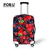 [FOR U DESIGNS]個性的な柄 伸縮素材 Spandex  スーツケース ラゲッジカバー luggage cover 旅行カバンカバー トランクカバー Lサイズ 自然3