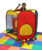 Kids Six Sided Hexagon Twist Play Tent Generation II w/ Indoor Play Ball Stopper