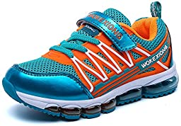 Comfortgo Kids Energy Air Running Velcro School Athletic Shoes Tennis Sneakers Girls Turquoise 4 M Big Kid