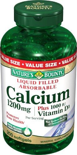 Nature's Bounty Calcium 1200 Mg. Plus Vitamin D3, 200-Count